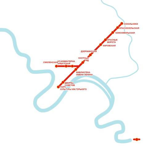 план московского метро 1935